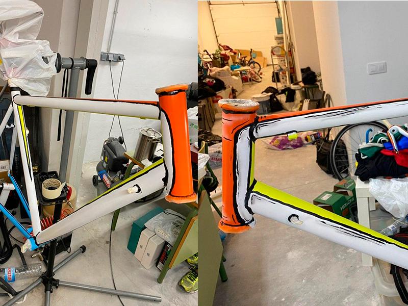 pintar-bicicleta-con-pincel